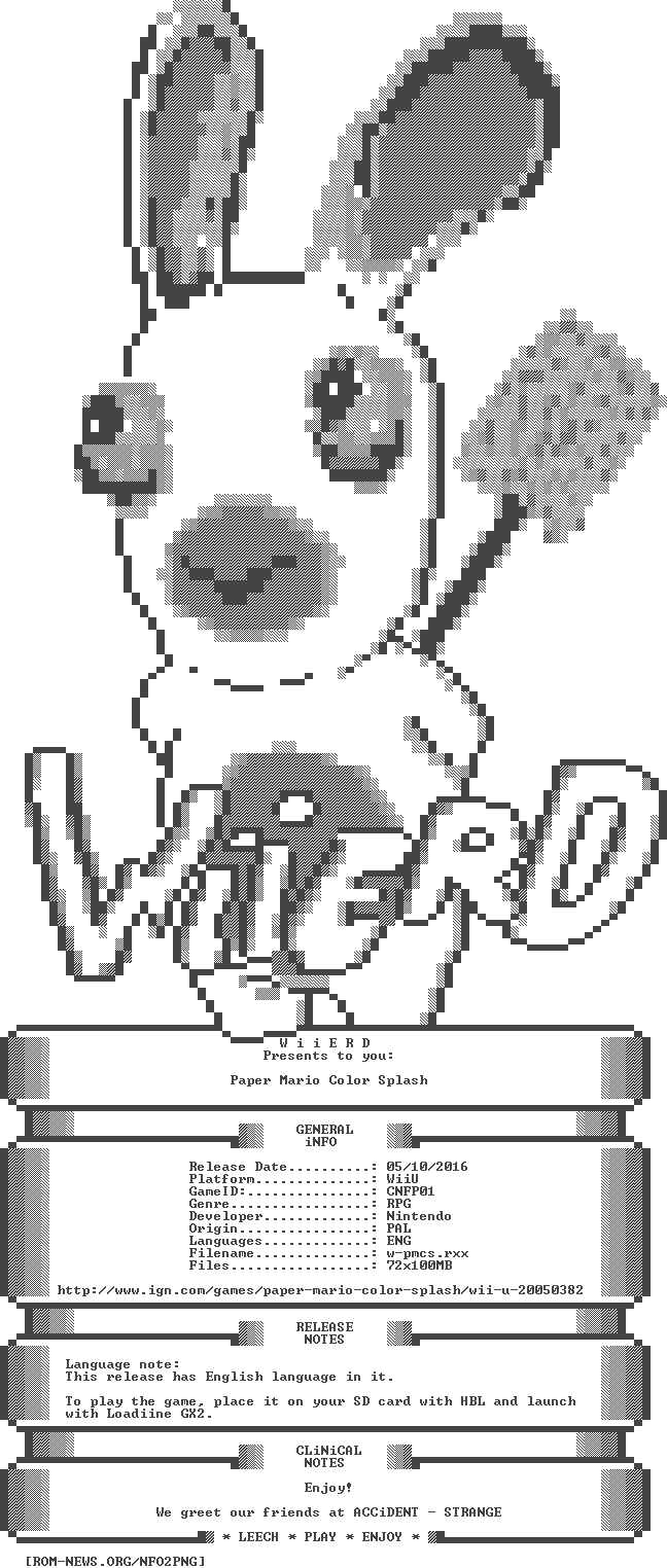 ROM-NEWS/WiiU | NFO (Paper_Mario_Color_Splash_WiiU-WiiERD)